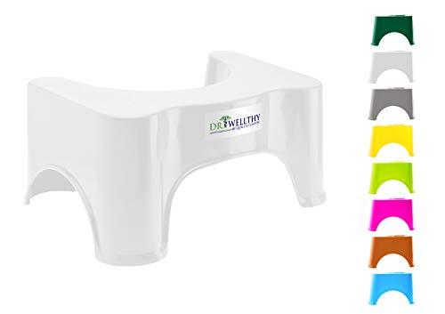 Dr. Wellthy - Medizinischer Toilettenhocker 41,5x24x17cm Weiß Gesunde Darmflora