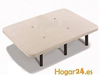 HOGAR24 Base TAPIZADA + 6 Patas DE Metal con Tejido 3D Y VÁ