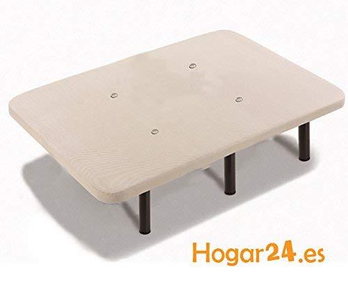 HOGAR24 Base tapizada 90x200 con Tejido 3D Crema y 6 patas de 26cm