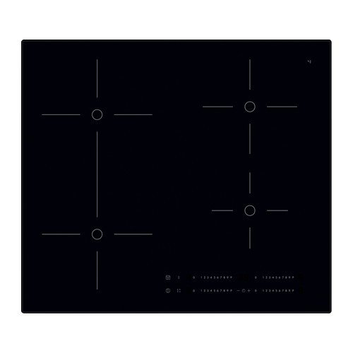 IKEA SMAKLIG Induktionskochfeld in schwarz; mit Bridge-Funktion; (59cm)