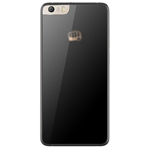 Backer The Brand OG Shell Replacement Battery Back Door Cover Glass Housing Panel for Micromax Canvas Knight 2 E471 (Black)
