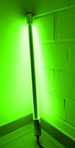 Led Leuchtstab IP44 KS mit Blendschutz 60cm grün für Außen, Gartenbeluchtung mit Led 3m Anschlußkabel 230 Volt