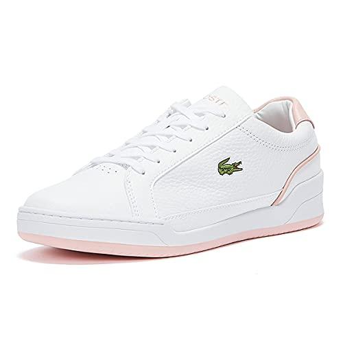 Lacoste Challenge 0721 1 SFA - Zapatillas bajas de piel para mujer, color Blanco, talla 37 EU