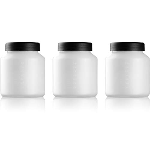3PCS Plastic Paint Storage Container with Lid for Store Leftover Paint-800ml/27oz-CACOOP