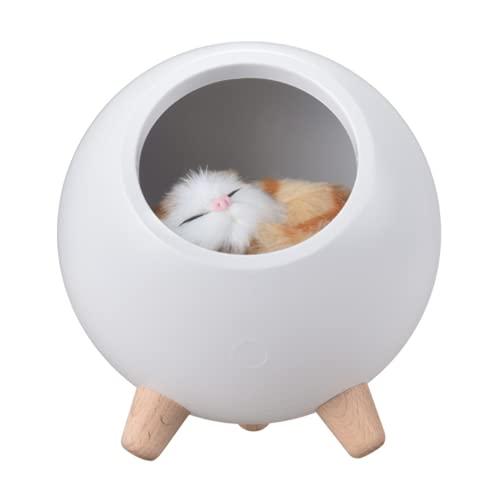 HJBD Cat Night Light, Lindo Títere Spherical Light's Light, Portable y Recargable, Adecuado para niños, Bebés, Dormitorios, Amantes, Cumpleaños