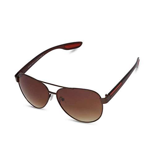 Gafas de sol Estilo Aviador Negro O Marrón Color Hombres Mujeres Moda Polarizada Lente Protección UV 400 Rojo Decorado Brazos