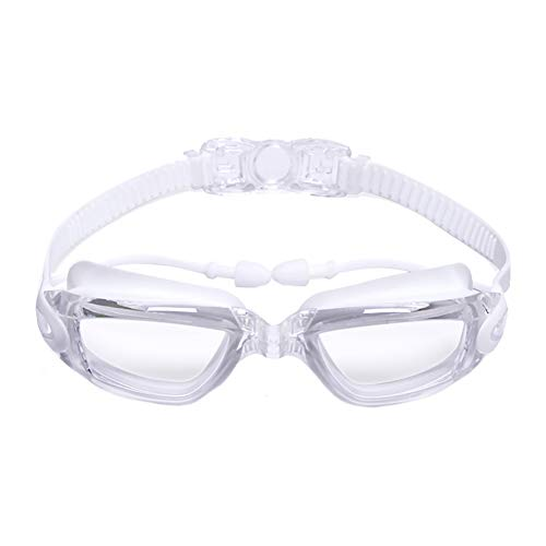 Fablcrew. Schwimmbrille mit großer Fassung zum Schwimmen, Anti-Perdite, Anti-Beschlag, UV-Schutz für Erwachsene 16.3CM Stile-b