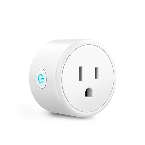 WiFi Smart Plug - Smart Outlets Work with Alexa, Google Home Assistant, Aoycocr Remote Control Plugs with Timer Function,ETL/FCC/Rohs Listed Socket, White(1 Pack)