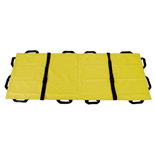Amuzocity Elastisch Tragetuch Rettungstuch für Feuerwehr und Rettungsdienst, mit Aufbewahrungstasche - Gelb, 195 x 70 cm