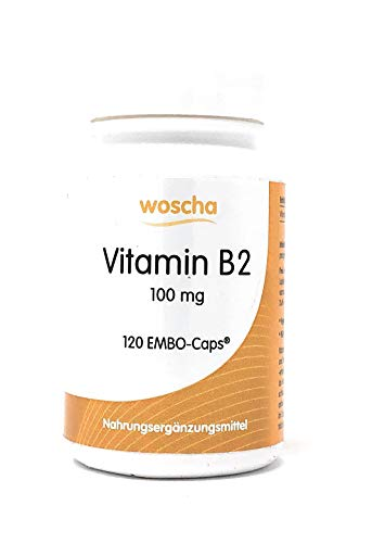 Woscha Vitamin B2 100mg, 120 K-Caps® (25g)(vegan)