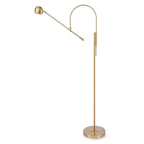 lámpara de piso Lámpara de pie Con Ajuste el brazo de la lámpara de lectura de pie, 61 pulgadas, acabado latón antiguo Lámpara de pie para dormitorio