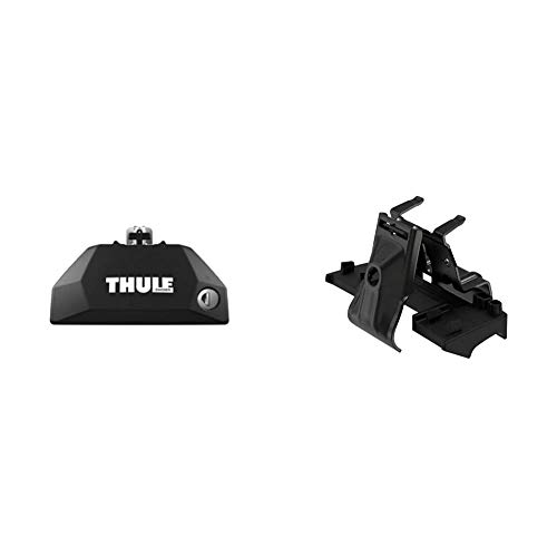 Thule 710600 Fußsatz für Dachträger 4-teilig & 186007 Montageset