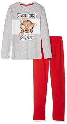 Emoji Jungen 2375 Zweiteiliger Schlafanzug, Grau (Gris Gris), 10 Jahre