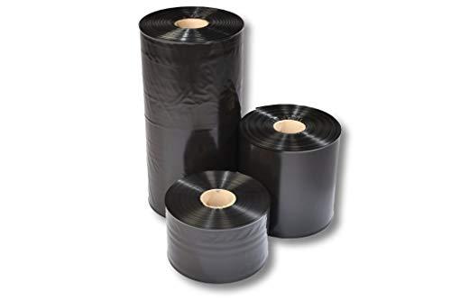 1 Rolle 400 mm breit x 250 m lang Schlauchfolie Folienschlauch Verpackungsschlauch Endlosschlauch Plastikschlauch Packfolie Verpackungsfolie Packschlauch schwarz schweißbar blickdicht undurchsichtig