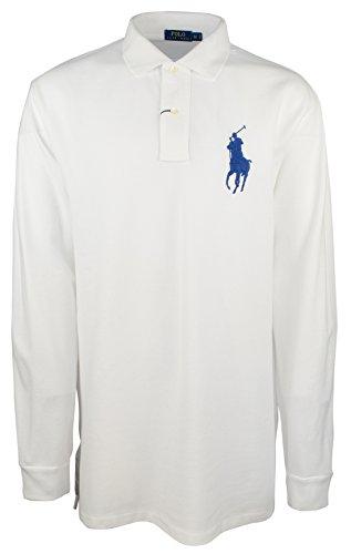 Polo Ralph Lauren Men's Big & Tall Big Pony Long Sleeve Shirt-W-2XB Snow White