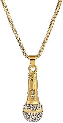 WYDSFWL Collar Chapado en Oro Genuino Collar de Micro Diamantes Pareja Europea y Americana Marca de Marea Exquisito Desgaste Colgante Cruzado Oro de 18 k para Mujeres Hombres Collar de Regalo