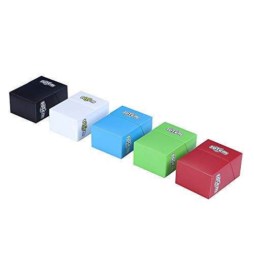 Totem World 5 Premium Deck Boxes in Assorted Bright Colors - Compatible with Pokemon, Yu-Gi-Oh, and Magic The Gathering Cards - Durable Plastic - Perfect Party Favors Or Kids Birthday Gifts