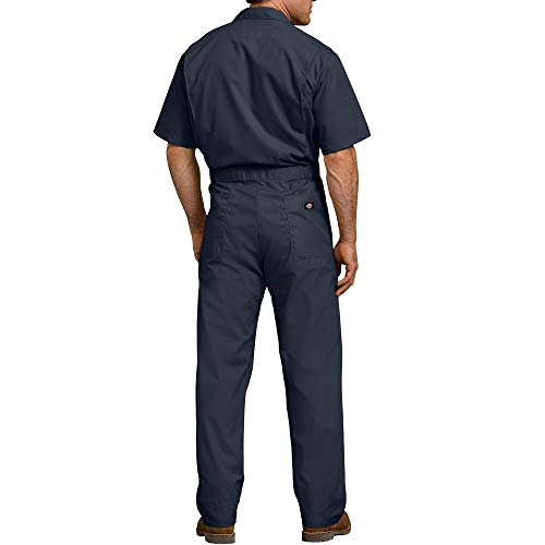 Dickies Men's Short Sleeve Coverall, Dark Navy, X-Large Tall