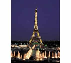 Borras   Serie Neon Fluorescent, Puzzle 1.000 piezas Torre Eiffel París, Brilla en la oscuridad (10114)