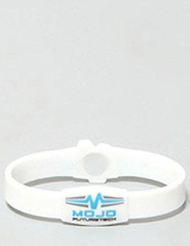 Mojo Raptor - Braccialetto olografico doppio, 20,3 cm, colore: Bianco/Blu/Grigio