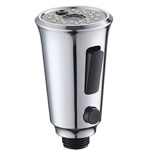 Cabezal de ducha, grifo de la cabeza de la ducha Pull Head Accesorios botón interruptor 3 función cuarto de baño, productos de baño grandes ventas plata