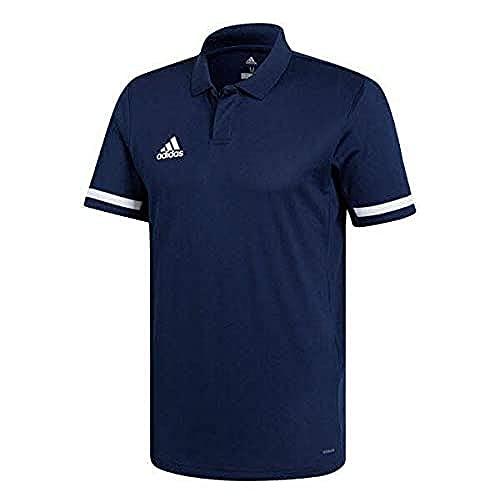 adidas Polo de Football à Manches Courtes pour Homme, Taille M/L, Bleu Marine/Blanc