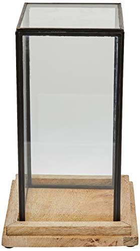 Better & Best 1363264 Urna cristal cuadrada base madera y