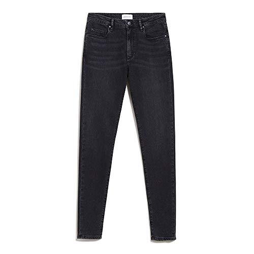 ARMEDANGELS TILLAA - Jeans aus Bio-Baumwoll Mix Washed Down Black Denims