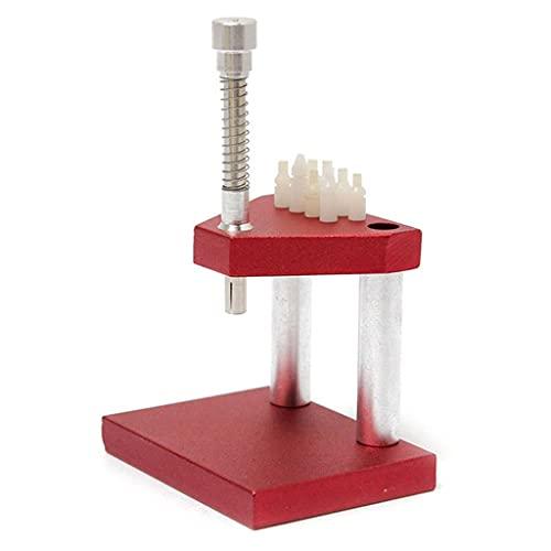 SMEJS Gjtzj Reloj removedor de Mano prensatelas émbolo portátil Piezas precisas Rojo Ajuste Profesional relojero Herramienta de reparación Extractor