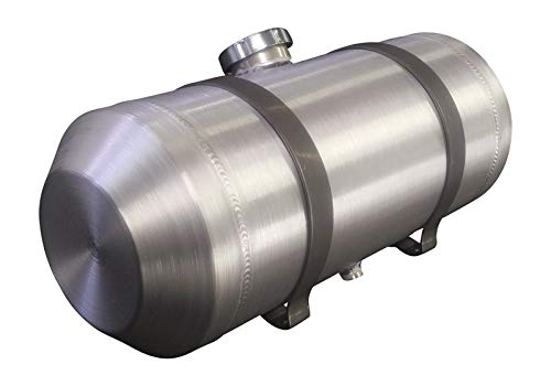 8x24 Center Fill Round Spun Aluminum Gas Tank - 5 Gallon - Motorcycle - Tractor Pulling - Ratrod - Dune Buggy - Trike - Baja Bug - 3/8 NPT - Made in the USA!