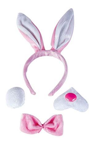 P'tit Clown 60126 Kit de Bunny -Serre-Tête - Queue - Nœud Papillon - Museau - Multicolore