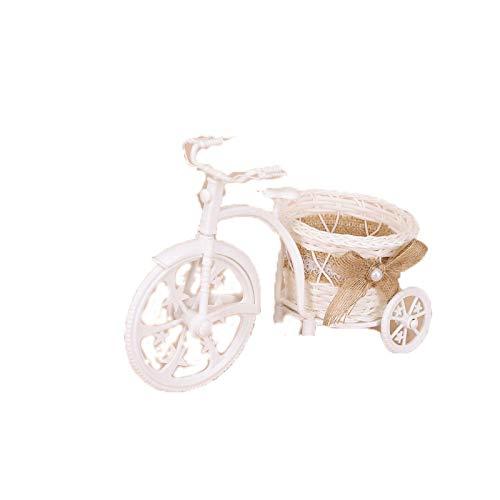 COJJ Yongshenghua handmade Mini basket creative rattan bicycle woven flower basket decoration tricycle basket 2
