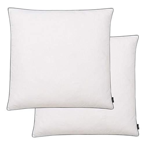 cangzhoushopping Kissen 2 STK. Daunen- / Federfüllung Leicht 80 x 80 cm Weiß Heim Garten Bett- und Haushaltswäsche Bettwäsche Kopfkissen