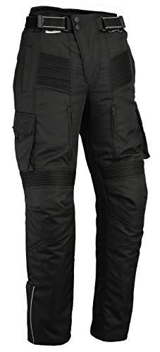 "Preisvergleich Produktbild Motorcycle Black Cargo Trousers CE Armoured Waterproof Cordura & Spandex CE-1621-1 (Waist M 32"" / 81cm Leg 30"" / 76cm)"