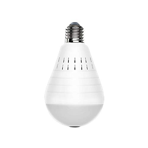 ZSGG Caméra Cachée Ampoule WiFi Lumière LED Intelligente 960P 360 ° Grand Angle Fisheye Caméra Espion Intérieure sans Fil Sécurité à Domicile Version de Surveillance Vidéo Audio