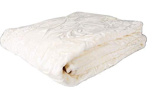 Dekonaz Wol Deken sprei voor 2 Persoon Polyester Crème