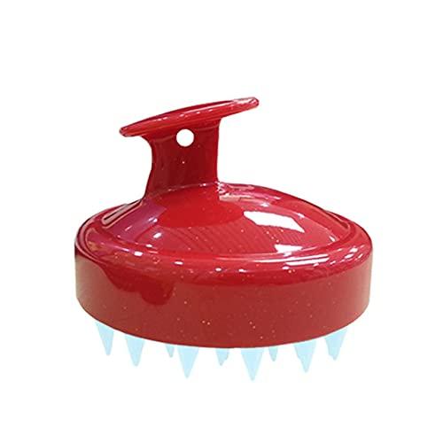 Peine Limpiar la cabeza del cuero cabelludo e Cepillo de champú de silicona suave Peluquería Cepillo de champú para el hogar Baño Herramienta de peluquería-A