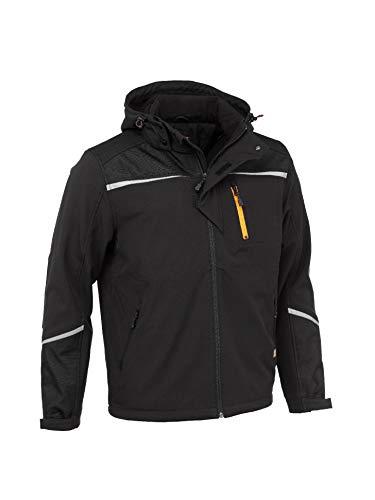 Worktough Softshell Jacket Chaqueta, Negro, S para Hombre