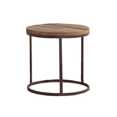 FENGTAB massief hout ronde tafel industriële stijl bank salontafel woonkamer restaurant bar decoratie creatieve thee tafel