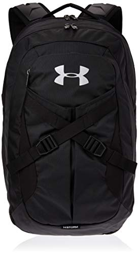 Under Armour Recruit Backpack 2.0, Black (001)/Silver, One Size Fits All