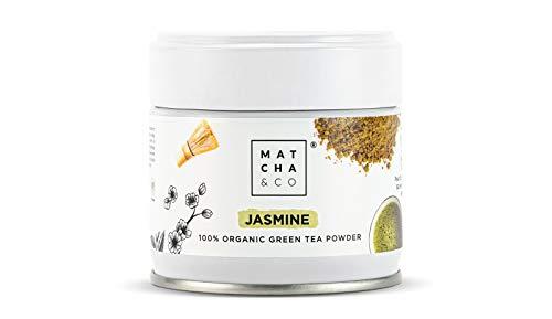 Té Verde Jazmín [en polvo] 100% Ecológico 30g. Té Jazmín Orgánico. Jasmine Tea Natural. Matcha & CO