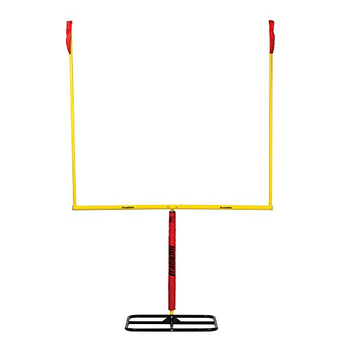 Franklin Sports Authentic Steel Football Goal Post 8.5' x 5.5' - Post for Kids - Football Goal Post Set - Kicking Field Goals - Youth Football Set - Portable Football Goal Post