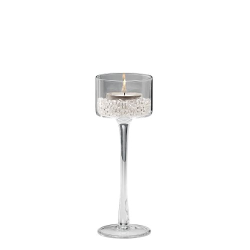 Sandra Rich Kerzenleuchter, Glas, transparent, 20 x 10 x 10 cm