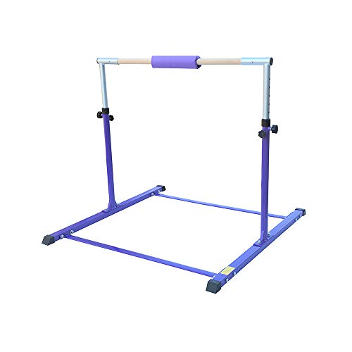 Fityou Gymnastics Bar for Kids, Gymnastics Training Bar with 35'-59' Adjustable Height, Gymnastics Horizontal Bars for Home Gym Sports Equipment, Ideal Birthday for Kids