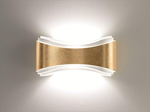 Selene illuminazione Ionische Wandleuchte 80 W, Blattgold