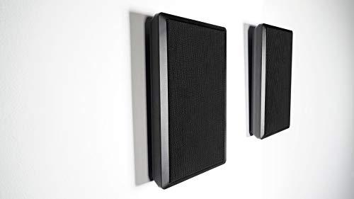 2 Rockville RockSlim Black Home Theater 5.25  240w Easy Wall Mount Slim Speakers