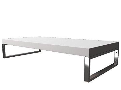 KERABAD Waschtischplatte Waschtischkonsole für Aufsatzwaschbecken und Waschschalen Holzplatte Badmöbel Tischplatte 80x45x5cm Weiss Matt kb-wt50120weissm-12
