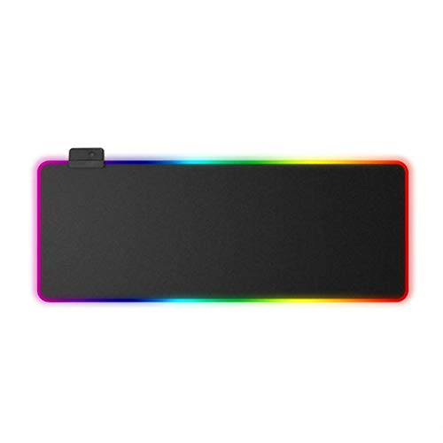 Large RGB Gaming Mouse Mat Pad Extended Led Mousepad with Non-Slip Rubber Base,Computer Keyboard Mousemat for PC, Laptop (80 X 30 X 0.4cm)