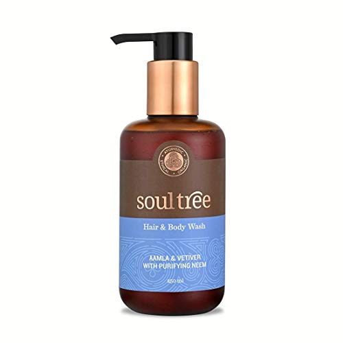 SoulTree Hair and Body Wash Gel - Aamla & Vetiver With Purifying Neem, 250ml