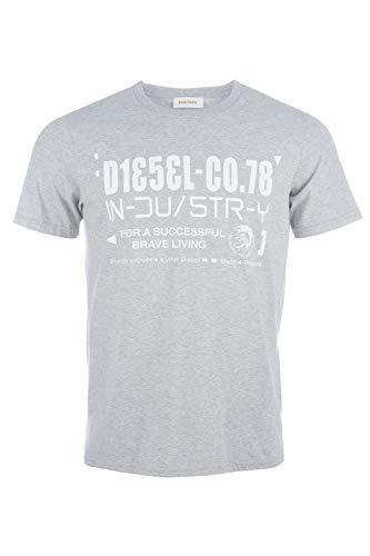 Diesel - Camiseta - para hombre Grau-Meliert